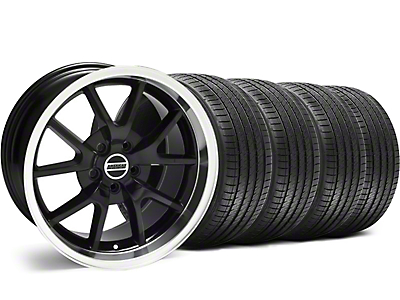 Staggered FR500 Style Black Wheel & Sumitomo Tire Kit - 18x9/10 (05-14 All)
