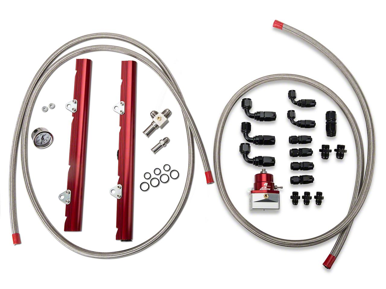 Aeromotive High Flow Fuel Rail Kit (86-95 GT, Cobra)