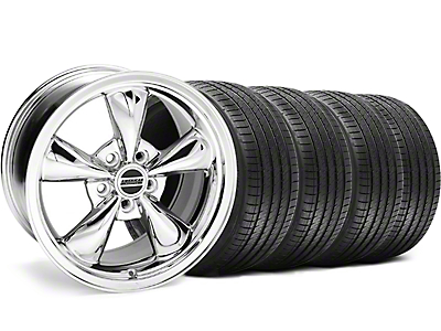Staggered Bullitt Chrome Wheel & Sumitomo Tire Kit - 18x9/10 (99-04 All)