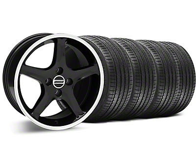 1995 Cobra R Style Black Wheel & Sumitomo Tire Kit - 17x8 (87-93 All, Excluding Cobra)