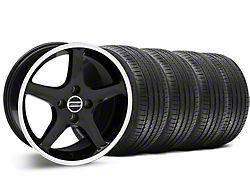 1995 Cobra R Style Black Wheel and Sumitomo Maximum Performance HTR Z5 Tire Kit; 17x8 (87-93 All, Excluding Cobra)