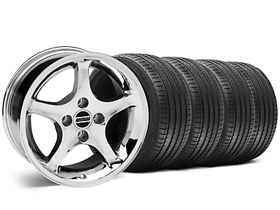 1995 Cobra R Style Chrome Wheel & Sumitomo Tire Kit - 17x8 (87-93 All, Excluding Cobra)