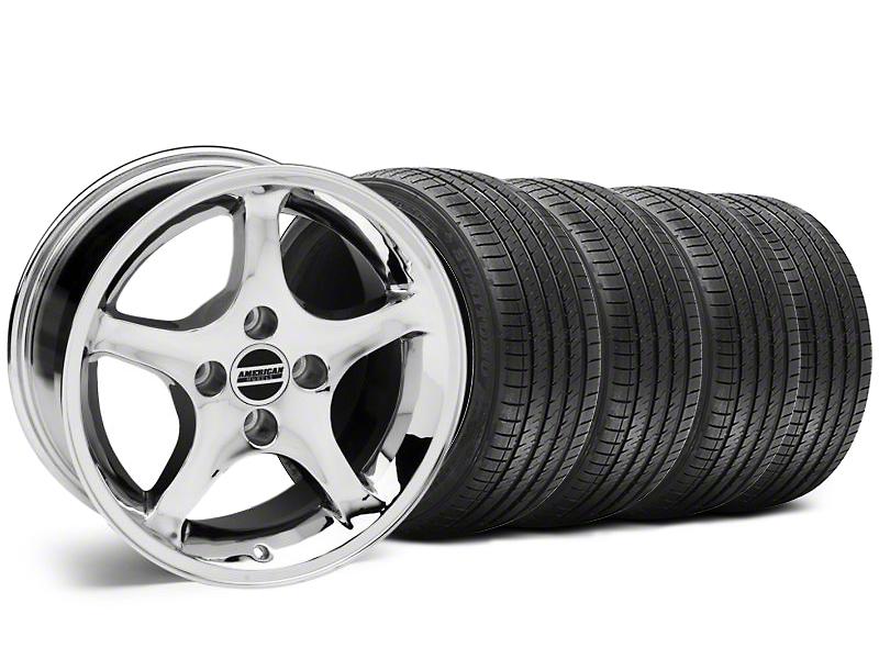 1995 Cobra R Style Chrome Wheel & Sumitomo Tire Kit - 17x8 (87-93; Excludes 93 Cobra)