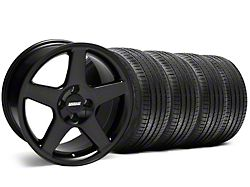2003 Cobra Style Black Wheel and Sumitomo Maximum Performance HTR Z5 Tire Kit; 17x9 (87-93 All, Excluding Cobra)