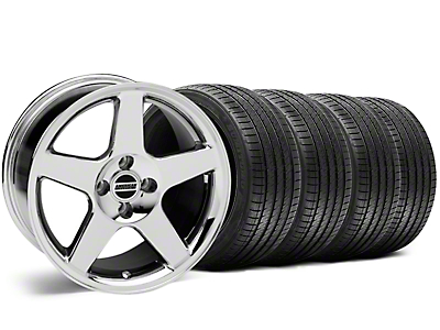 2003 Cobra Style Chrome Wheel & Sumitomo Tire Kit - 17x9 (87-93 All, Excluding Cobra)