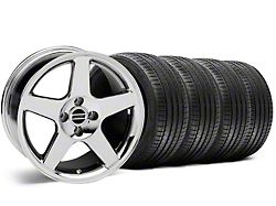 2003 Cobra Style Chrome Wheel and Sumitomo Maximum Performance HTR Z5 Tire Kit; 17x9 (87-93 All, Excluding Cobra)