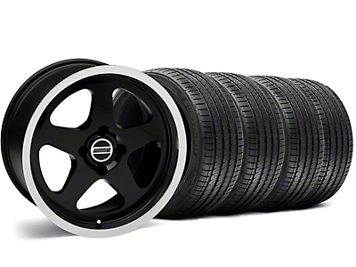 SC Style Black Wheel & Sumitomo Tire Kit - 17x8 (87-93 All, Excluding Cobra)