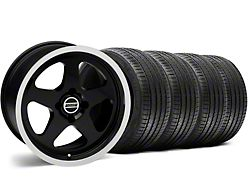 SC Style Black Wheel and Sumitomo Maximum Performance HTR Z5 Tire Kit; 17x8 (87-93 All, Excluding Cobra)