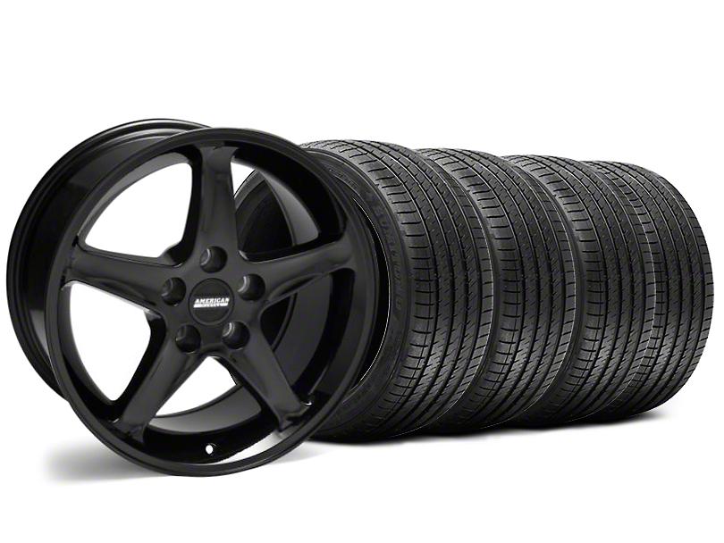 1995 Cobra R Style Black Wheel and Sumitomo Maximum Performance HTR Z5 Tire Kit; 17x9 (94-98 All)