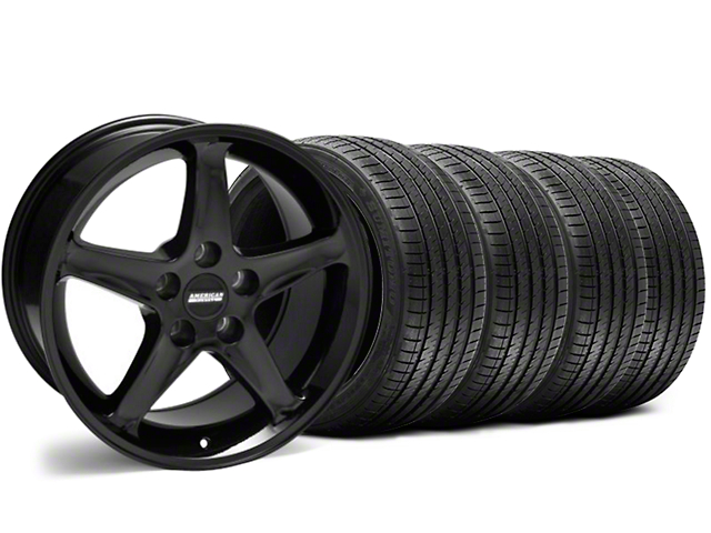 1995 Cobra R Style Black Wheel & Sumitomo Tire Kit - 17x9 (94-98 All)