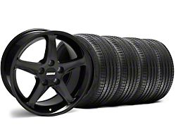 1995 Cobra R Style Black Wheel and Sumitomo Maximum Performance HTR Z5 Tire Kit; 17x9 (94-98 All)
