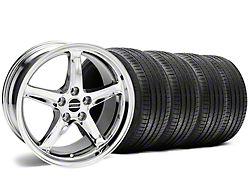 1995 Cobra R Style Chrome Wheel and Sumitomo Maximum Performance HTR Z5 Tire Kit; 17x9 (94-98 All)
