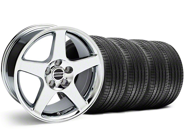 2003 Cobra Style Chrome Wheel and Sumitomo Maximum Performance HTR Z5 Tire Kit; 17x9 (94-98 All)