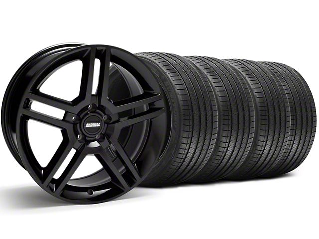 2010 GT500 Style Black Wheel & Sumitomo Maximum Performance HTR Z5 Tire Kit - 18x9 (94-98 All)