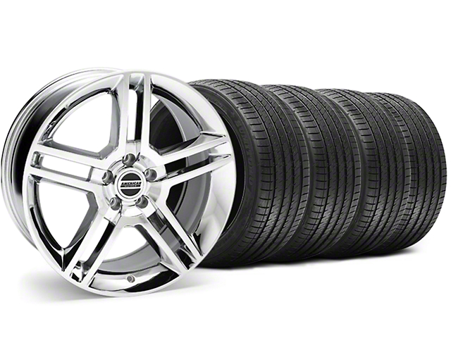 2010 GT500 Style Chrome Wheel and Sumitomo Maximum Performance HTR Z5 Tire Kit; 18x9 (94-98 All)