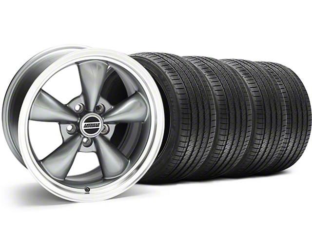 Bullitt Anthracite Wheel and Sumitomo Maximum Performance HTR Z5 Tire Kit; 17x9 (94-98 All)