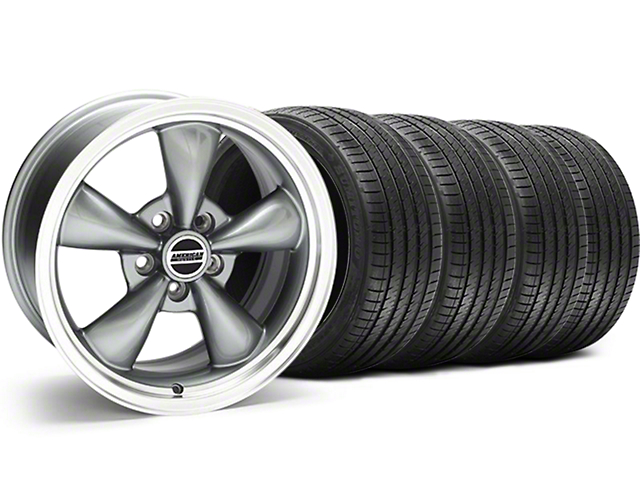 Bullitt Anthracite Wheel and Sumitomo Maximum Performance HTR Z5 Tire Kit; 18x9 (94-98 All)