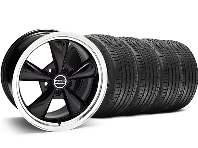 Bullitt Black Wheel and Sumitomo Maximum Performance HTR Z5 Tire Kit; 18x9 (94-98 All)