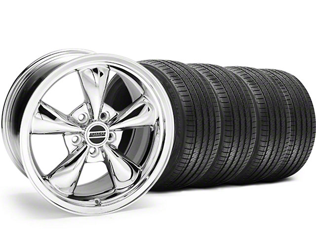 Bullitt Chrome Wheel and Sumitomo Maximum Performance HTR Z5 Tire Kit; 17x9 (94-98 All)