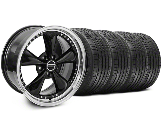 Bullitt Motorsport Black Wheel and Sumitomo Maximum Performance HTR Z5 Tire Kit; 18x9 (94-98 All)