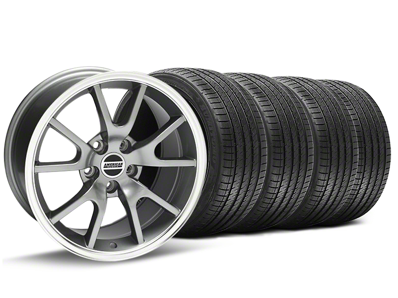 FR500 Style Anthracite Wheel and Sumitomo Maximum Performance HTR Z5 Tire Kit; 17x9 (94-98 All)