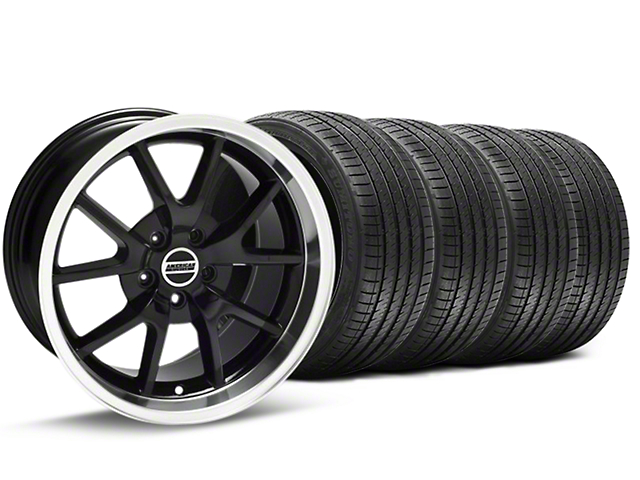 FR500 Style Black Wheel and Sumitomo Maximum Performance HTR Z5 Tire Kit; 18x9 (94-98 All)