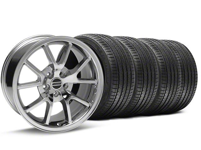 FR500 Style Chrome Wheel and Sumitomo Maximum Performance HTR Z5 Tire Kit; 17x9 (94-98 All)