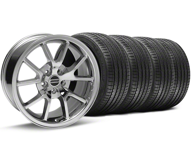 FR500 Style Chrome Wheel and Sumitomo Maximum Performance HTR Z5 Tire Kit; 18x9 (94-98 All)