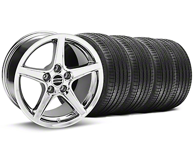Saleen Style Chrome Wheel & Sumitomo Tire Kit - 17x9 (94-98 All)