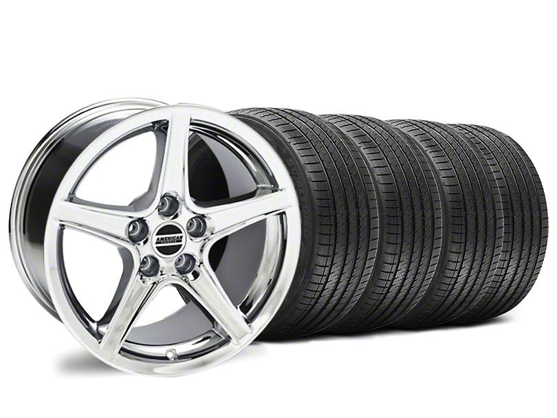 Saleen Style Chrome Wheel & Sumitomo Tire Kit - 18x9 (94-98 All)
