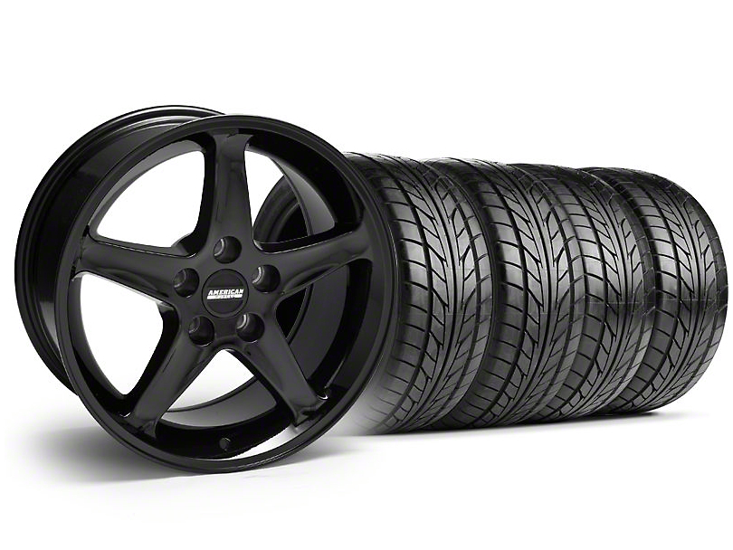 1995 Cobra R Style Black Wheel & NITTO Tire Kit - 17x9 (94-98 All)
