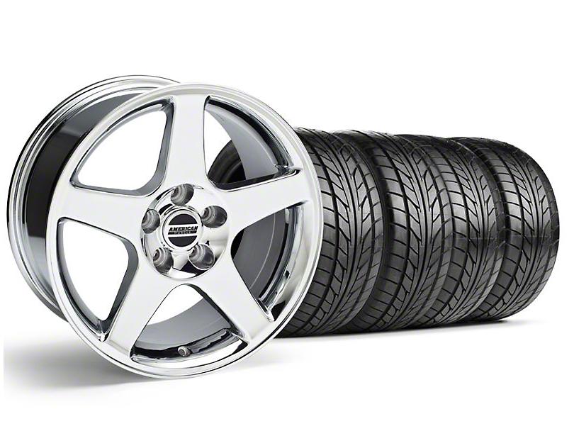 2003 Cobra Style Chrome Wheel & NITTO Tire Kit - 17x9 (94-98 All)