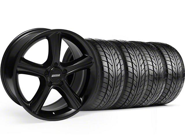 2010 GT Premium Style Black Wheel & NITTO Tire Kit - 18x9 (94-98 All)