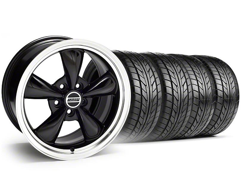 Bullitt Black Wheel & NITTO Tire Kit - 18x9 (94-98 All)