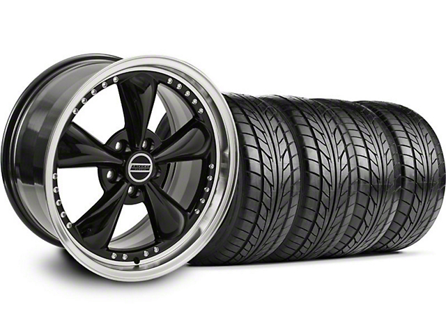 Bullitt Motorsport Black Wheel & NITTO Tire Kit; 18x9 (94-98 All)