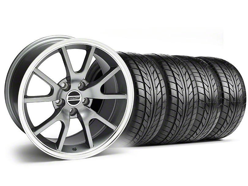 FR500 Style Anthracite Wheel & NITTO Tire Kit - 18x9 (94-98 All)