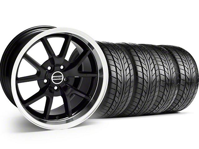 FR500 Style Black Wheel & NITTO Tire Kit - 17x9 (94-98 All)