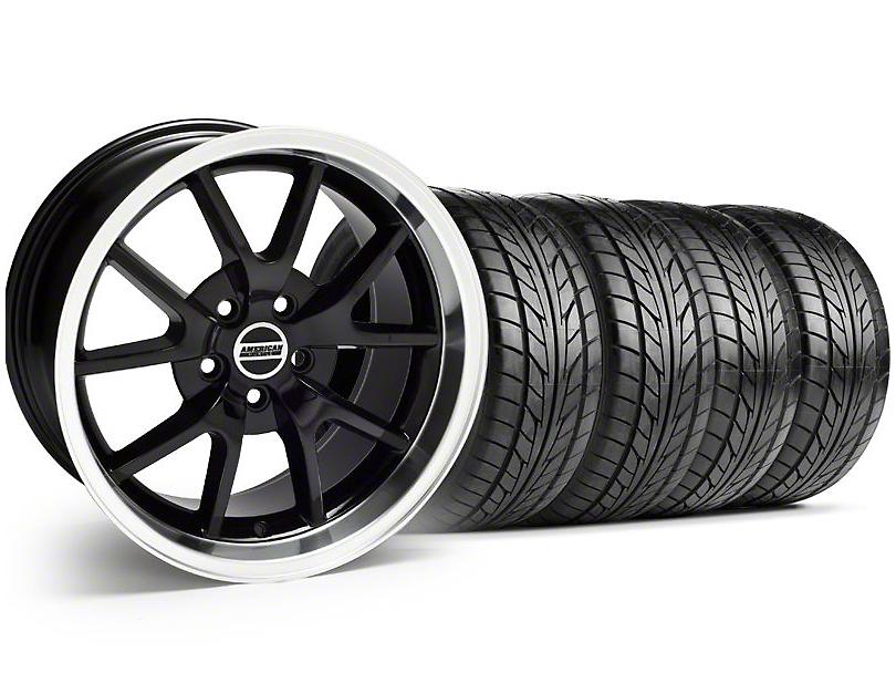 FR500 Style Black Wheel & NITTO Tire Kit - 18x9 (94-98 All)