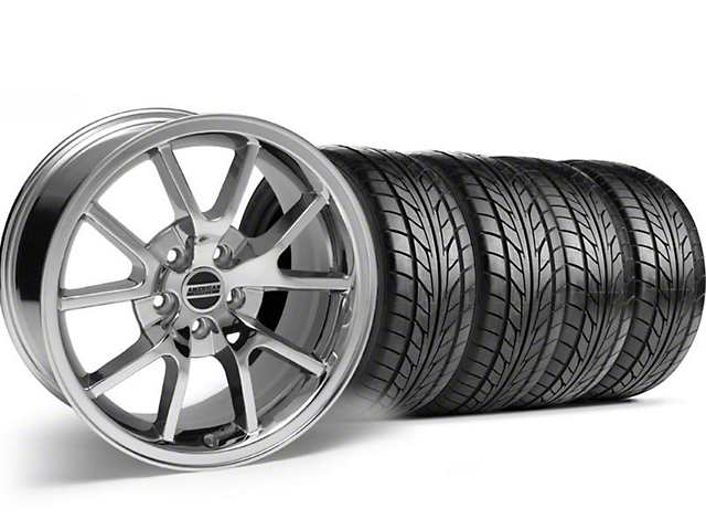 FR500 Style Chrome Wheel & NITTO Tire Kit - 17x9 (94-98 All)