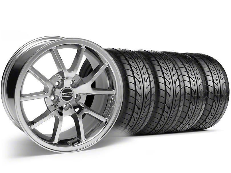 FR500 Style Chrome Wheel & NITTO Tire Kit - 18x9 (94-98 All)