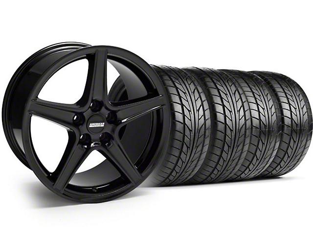 Saleen Style Black Wheel & NITTO Tire Kit - 18x9 (94-98 All)
