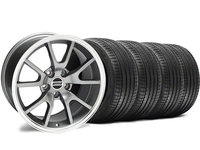 Staggered FR500 Style Anthracite Wheel and Sumitomo Maximum Performance HTR Z5 Tire Kit; 18x9/10 (94-98 All)