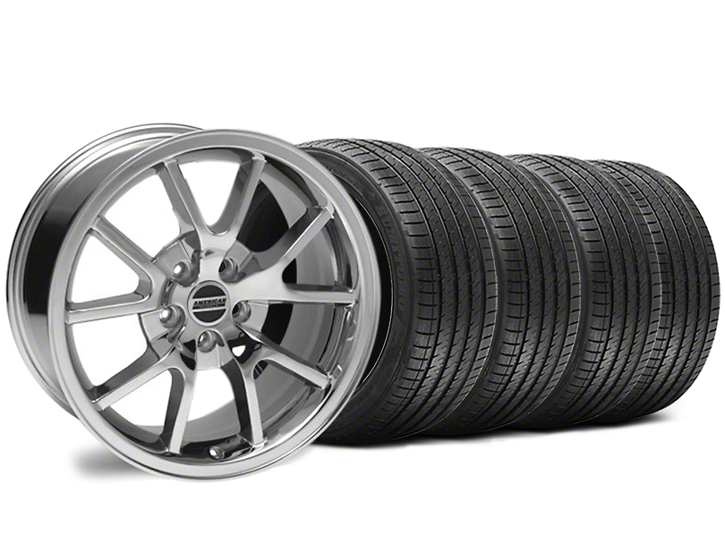 Staggered FR500 Style Chrome Wheel & Sumitomo Maximum Performance HTR Z5 Tire Kit - 18x9/10 (94-98 All)