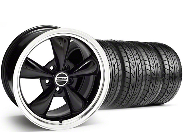 Staggered Bullitt Black Wheel & NITTO Tire Kit - 18x9/10 (94-98 All)