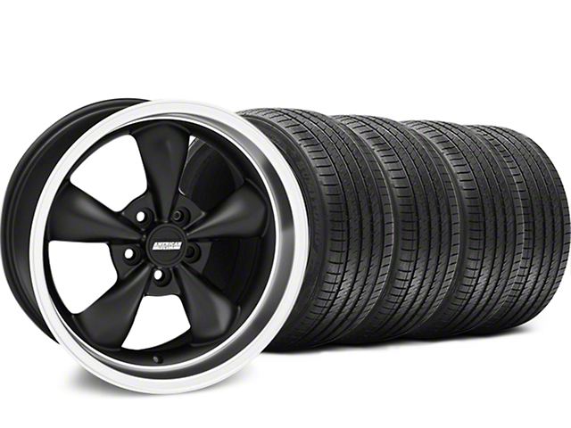 Bullitt Matte Black Wheel & Sumitomo Tire Kit - 18x9 (05-10 GT; 05-14 V6)