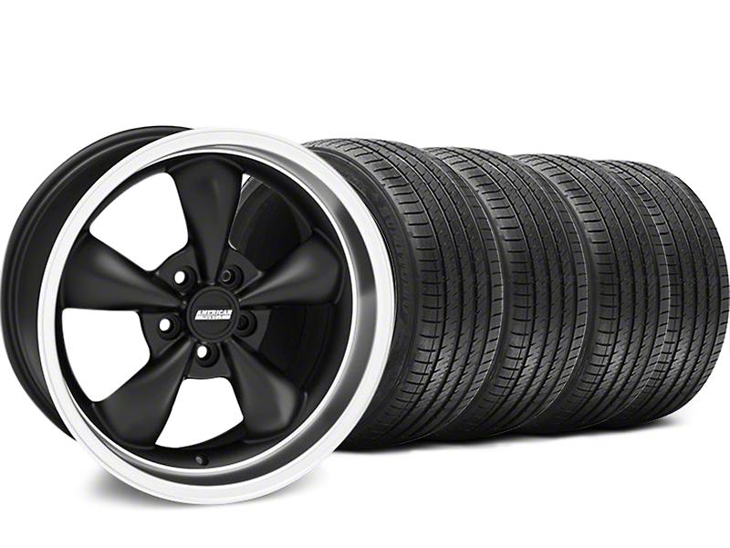 Bullitt Matte Black Wheel & Sumitomo Tire Kit - 18x9 (05-10 GT; 05-14 V6)
