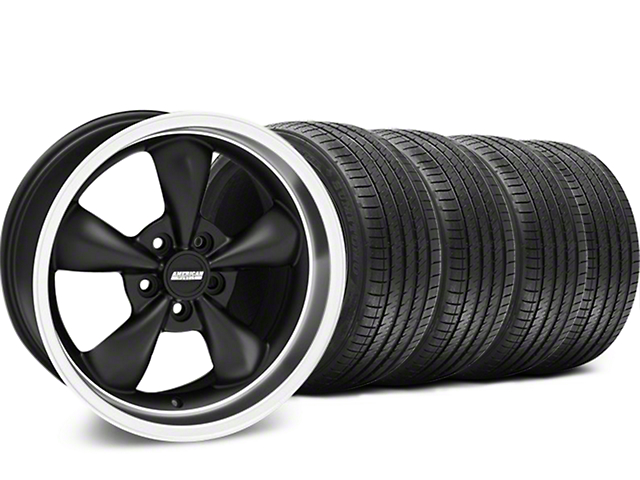 Bullitt Matte Black Wheel and Sumitomo Maximum Performance HTR Z5 Tire Kit; 17x8 (94-04 All)