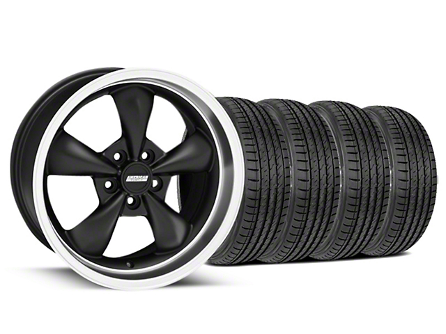 Bullitt Matte Black Wheel and Sumitomo Maximum Performance HTR Z5 Tire Kit; 17x9 (99-04 All)