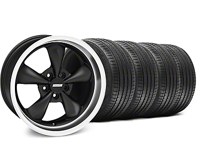 Bullitt Matte Black Wheel & Sumitomo Tire Kit - 18x9 (99-04 All)