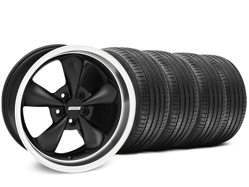 Bullitt Matte Black Wheel & Sumitomo Tire Kit - 17x9 (94-98 All)